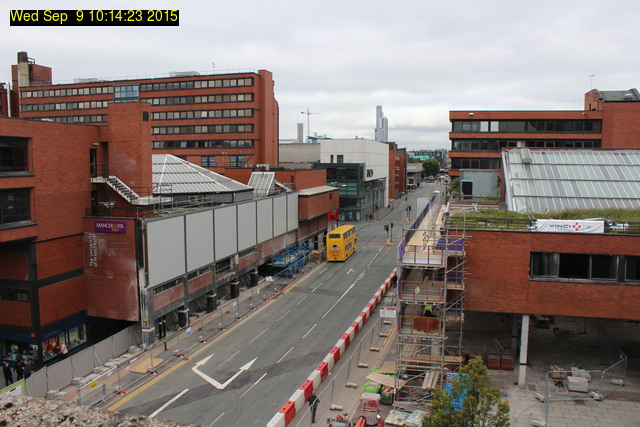 photo of the demolition at Manchester Business School
